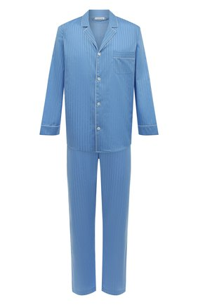 Мужская хлопковая пижама ZIMMERLI синего цвета, арт. 4020-75001 | Фото 1