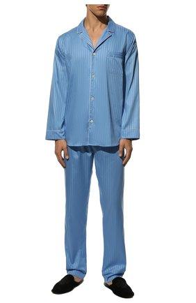 Мужская хлопковая пижама ZIMMERLI синего цвета, арт. 4020-75001 | Фото 2
