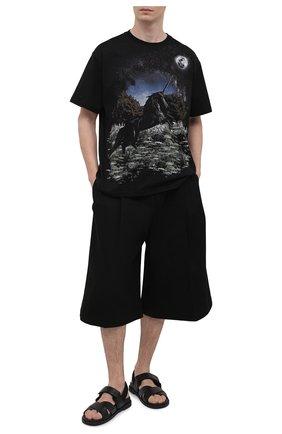 Мужская хлопковая футболка BURBERRY черного цвета, арт. 8037005 | Фото 2 (Длина (для топов): Стандартные; Материал внешний: Хлопок; Рукава: Короткие; Принт: С принтом; Стили: Кэжуэл)