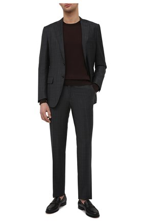 Мужские кожаные пенни-лоферы SANTONI черного цвета, арт. MCQU13207LA3S0RMN01 | Фото 2 (Материал внутренний: Натуральная кожа; Мужское Кросс-КТ: Лоферы-обувь; Стили: Классический)