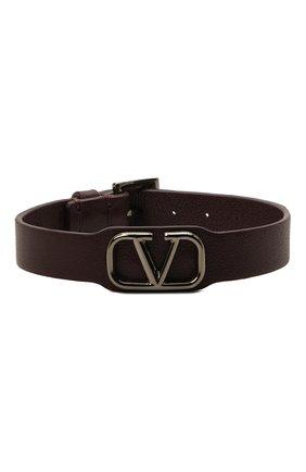 Мужской кожаный браслет valentino garavani VALENTINO бордового цвета, арт. VY2J0N49/UQC   Фото 1