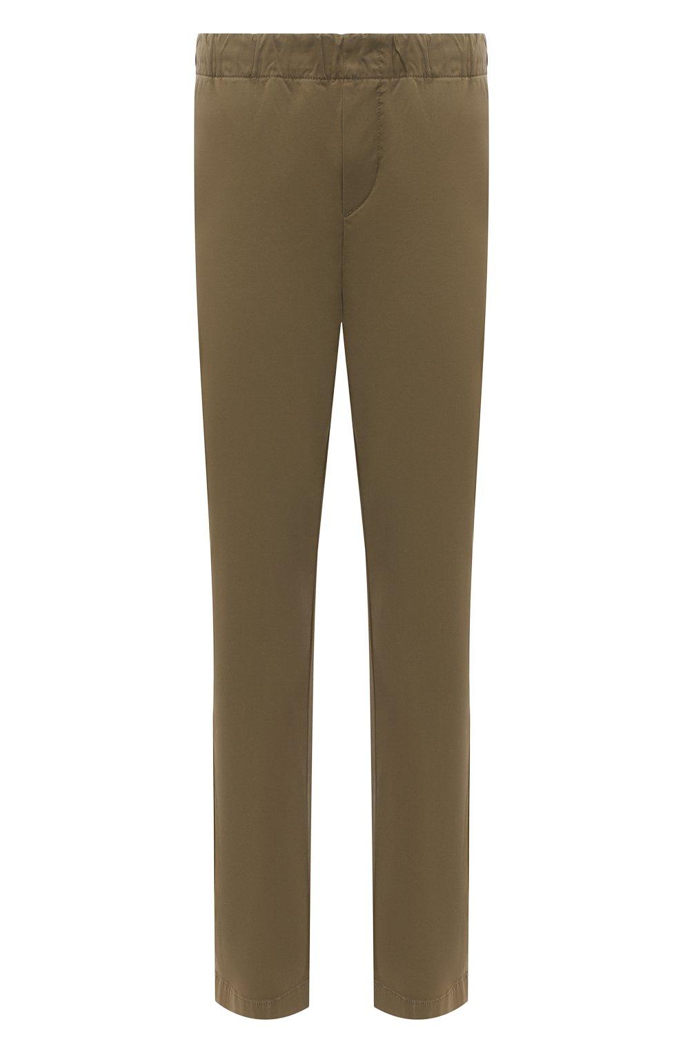 Мужские брюки 7 FOR ALL MANKIND хаки цвета, арт. JSCJB560FR   Фото 1 (Длина (брюки, джинсы): Стандартные; Случай: Повседневный; Материал внешний: Синтетический материал, Хлопок; Стили: Кэжуэл)