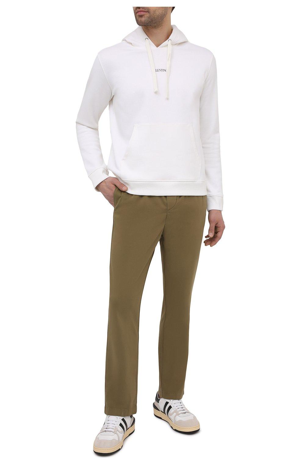 Мужские брюки 7 FOR ALL MANKIND хаки цвета, арт. JSCJB560FR   Фото 2 (Длина (брюки, джинсы): Стандартные; Случай: Повседневный; Материал внешний: Синтетический материал, Хлопок; Стили: Кэжуэл)