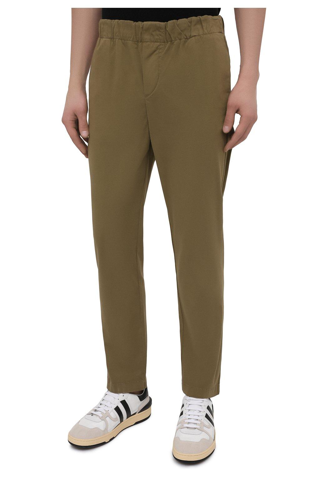 Мужские брюки 7 FOR ALL MANKIND хаки цвета, арт. JSCJB560FR   Фото 3 (Длина (брюки, джинсы): Стандартные; Случай: Повседневный; Материал внешний: Синтетический материал, Хлопок; Стили: Кэжуэл)