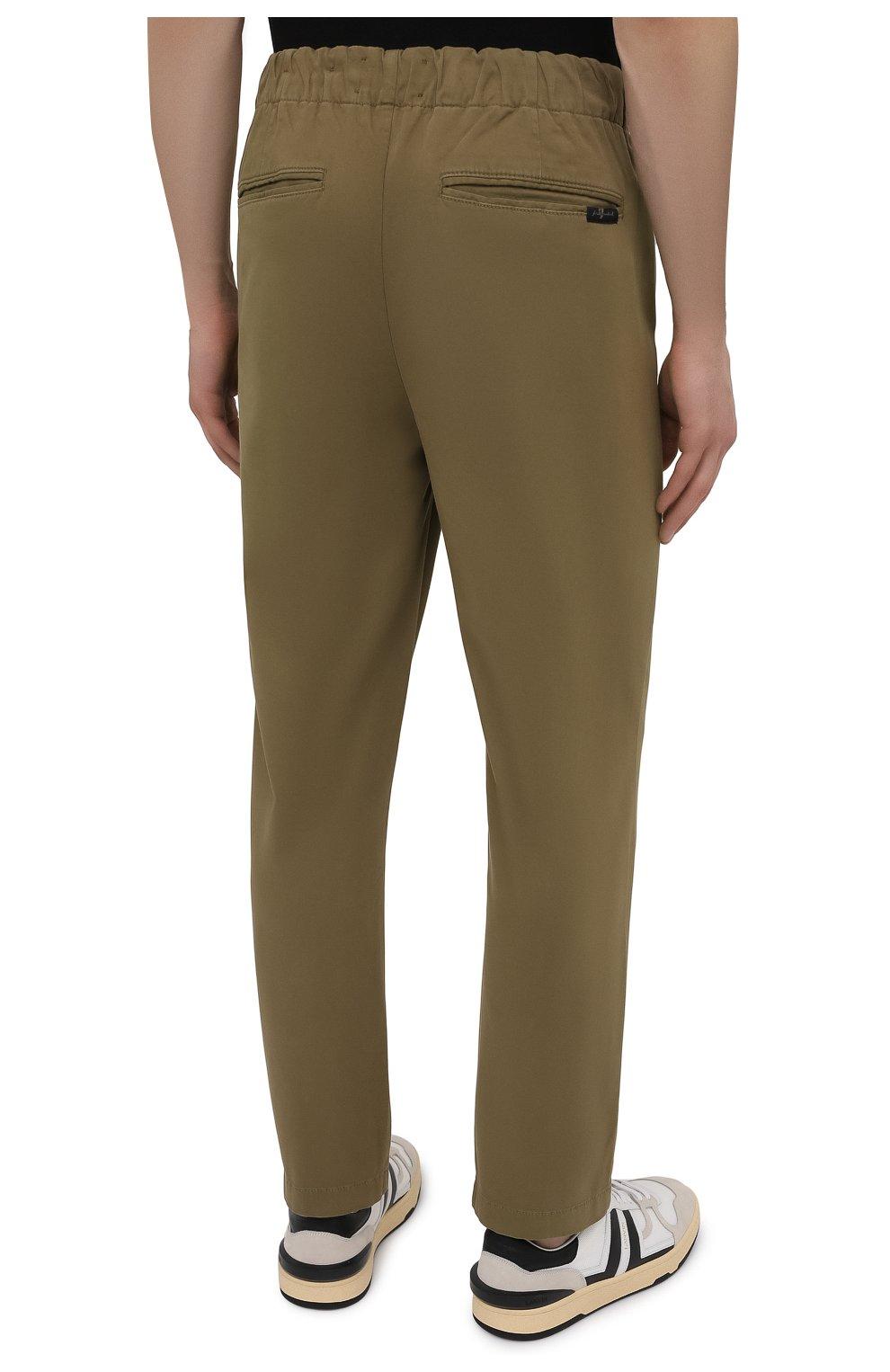 Мужские брюки 7 FOR ALL MANKIND хаки цвета, арт. JSCJB560FR   Фото 4 (Длина (брюки, джинсы): Стандартные; Случай: Повседневный; Материал внешний: Синтетический материал, Хлопок; Стили: Кэжуэл)
