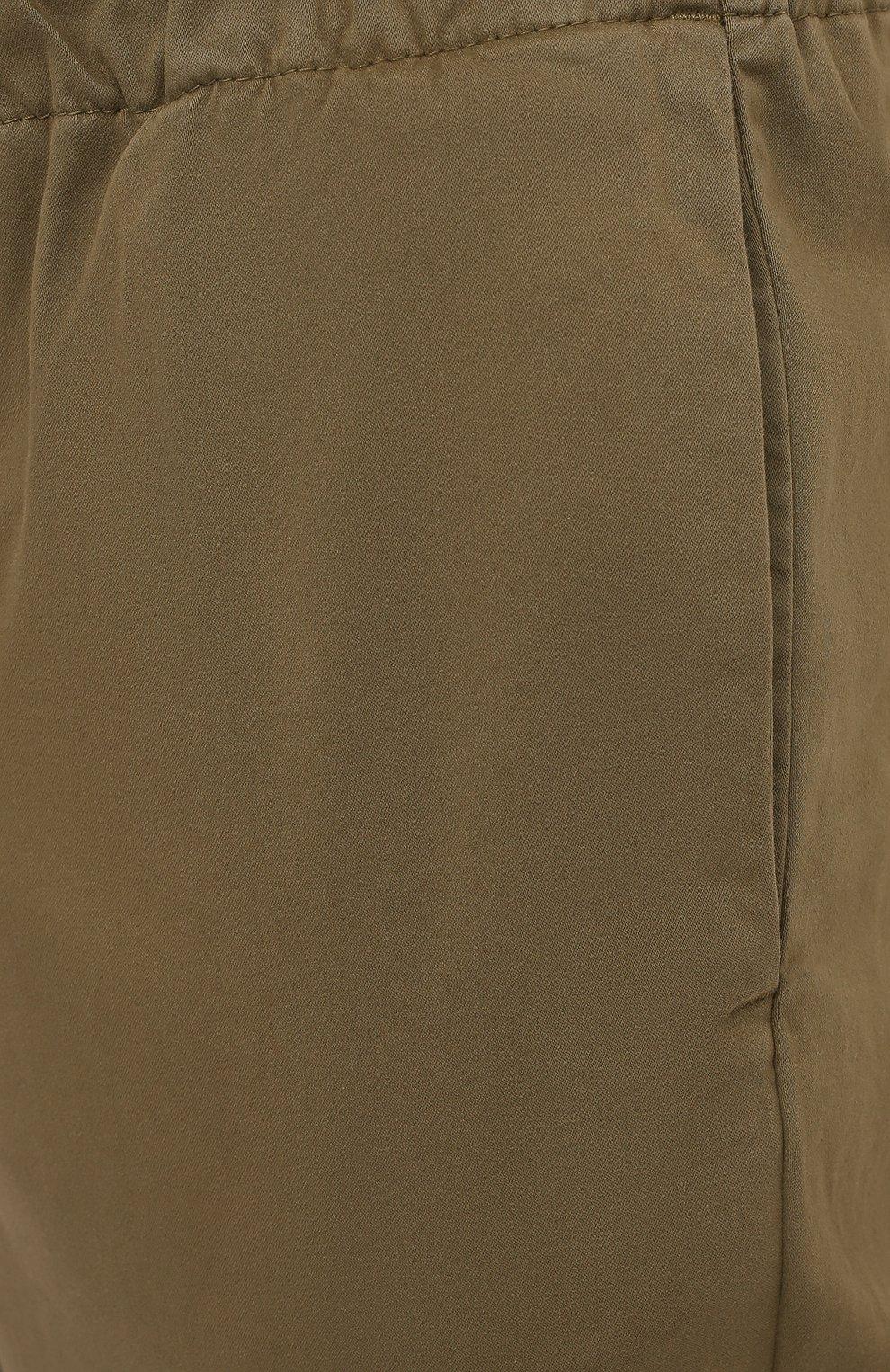Мужские брюки 7 FOR ALL MANKIND хаки цвета, арт. JSCJB560FR   Фото 5 (Длина (брюки, джинсы): Стандартные; Случай: Повседневный; Материал внешний: Синтетический материал, Хлопок; Стили: Кэжуэл)