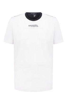 Мужская хлопковая футболка DOLCE & GABBANA белого цвета, арт. G8MW0Z/G7YIU | Фото 1