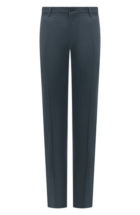 Мужские шерстяные брюки DOLCE & GABBANA бирюзового цвета, арт. GY7BMT/FU217   Фото 1