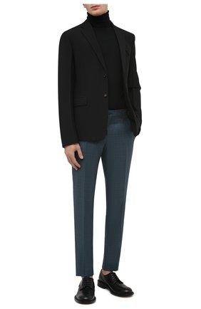 Мужские шерстяные брюки DOLCE & GABBANA бирюзового цвета, арт. GY7BMT/FU217   Фото 2