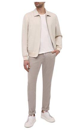 Мужские брюки KITON бежевого цвета, арт. UFPLACJ07T37 | Фото 2