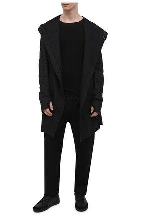 Мужской хлопковый джемпер MASNADA черного цвета, арт. M26N02   Фото 2