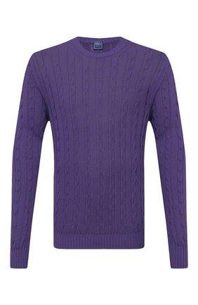 Мужской хлопковый свитер FEDELI фиолетового цвета, арт. 4UED5511 | Фото 1