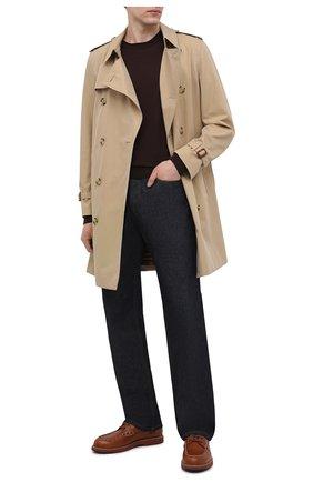 Мужские кожаные дерби TOD'S коричневого цвета, арт. XXM05E0EB70NHV | Фото 2 (Материал внутренний: Натуральная кожа; Стили: Классический)