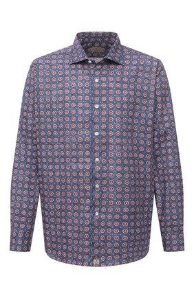 Мужская хлопковая рубашка SONRISA разноцветного цвета, арт. IL7/C4078/47-51 | Фото 1 (Манжеты: На пуговицах; Big sizes: Big Sizes; Рукава: Длинные; Рубашки М: Classic Fit; Воротник: Акула; Случай: Повседневный; Длина (для топов): Стандартные; Принт: С принтом; Материал внешний: Хлопок; Стили: Кэжуэл)