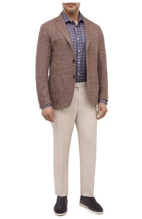 Мужская хлопковая рубашка SONRISA разноцветного цвета, арт. IL7/C4078/47-51 | Фото 2 (Манжеты: На пуговицах; Big sizes: Big Sizes; Рукава: Длинные; Рубашки М: Classic Fit; Воротник: Акула; Случай: Повседневный; Длина (для топов): Стандартные; Принт: С принтом; Материал внешний: Хлопок; Стили: Кэжуэл)