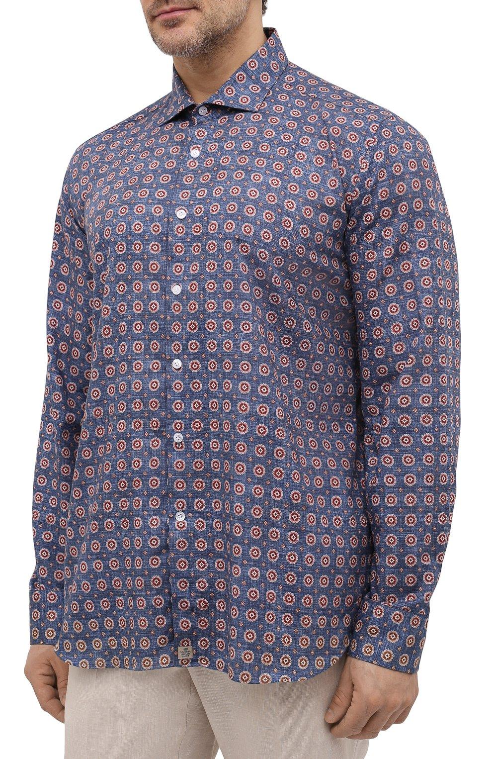 Мужская хлопковая рубашка SONRISA разноцветного цвета, арт. IL7/C4078/47-51 | Фото 3 (Манжеты: На пуговицах; Big sizes: Big Sizes; Рукава: Длинные; Рубашки М: Classic Fit; Воротник: Акула; Случай: Повседневный; Длина (для топов): Стандартные; Принт: С принтом; Материал внешний: Хлопок; Стили: Кэжуэл)