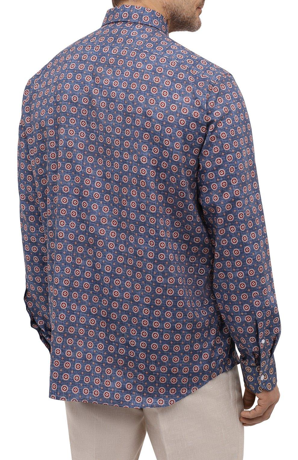 Мужская хлопковая рубашка SONRISA разноцветного цвета, арт. IL7/C4078/47-51 | Фото 4 (Манжеты: На пуговицах; Big sizes: Big Sizes; Рукава: Длинные; Рубашки М: Classic Fit; Воротник: Акула; Случай: Повседневный; Длина (для топов): Стандартные; Принт: С принтом; Материал внешний: Хлопок; Стили: Кэжуэл)