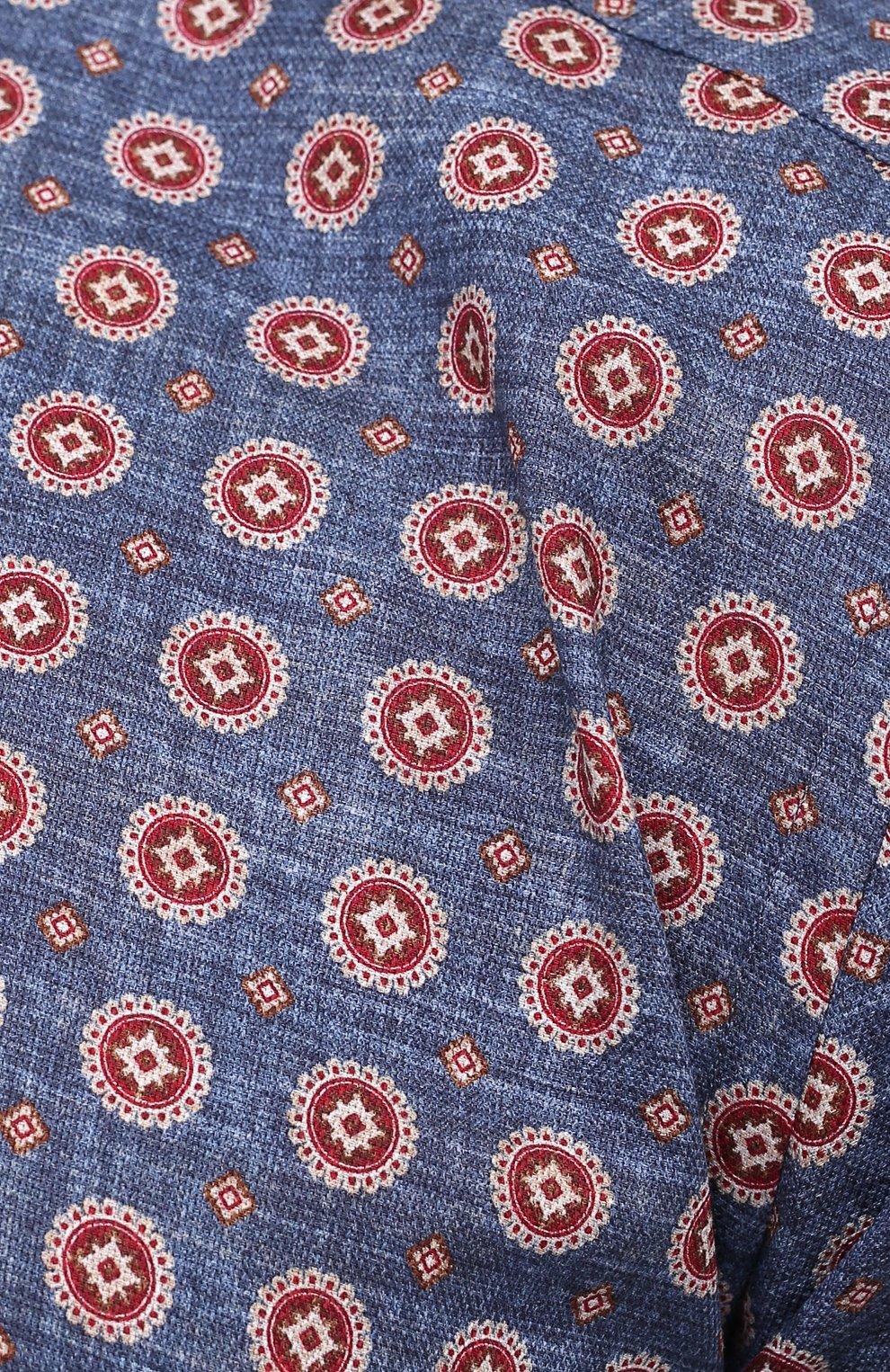 Мужская хлопковая рубашка SONRISA разноцветного цвета, арт. IL7/C4078/47-51 | Фото 5 (Манжеты: На пуговицах; Big sizes: Big Sizes; Рукава: Длинные; Рубашки М: Classic Fit; Воротник: Акула; Случай: Повседневный; Длина (для топов): Стандартные; Принт: С принтом; Материал внешний: Хлопок; Стили: Кэжуэл)