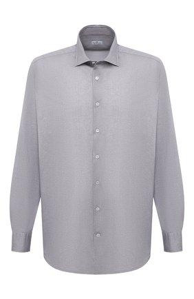 Мужская хлопковая рубашка SONRISA серого цвета, арт. IFJ17/J134/47-51   Фото 1