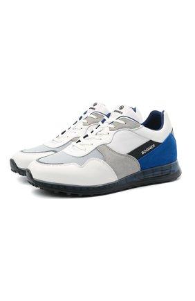 Мужские комбинированные кроссовки BOGNER белого цвета, арт. 12120575/EST0RIL 4 B | Фото 1