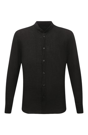 Мужская льняная рубашка 120% LINO черного цвета, арт. T0M1159/B317/000 | Фото 1