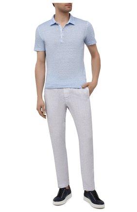 Мужские льняные брюки 120% LINO светло-сиреневого цвета, арт. T0M2131/0253/S00 | Фото 2