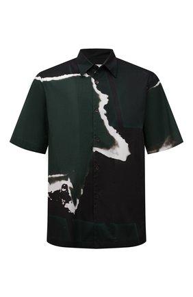 Мужская хлопковая рубашка DRIES VAN NOTEN зеленого цвета, арт. 211-20739-2063 | Фото 1