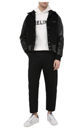 Мужские кожаные кеды BERLUTI белого цвета, арт. S5304-001   Фото 2 (Материал внешний: Кожа; Подошва: Плоская; Материал внутренний: Натуральная кожа)