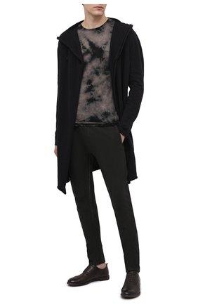Мужские кожаные оксфорды MOMA темно-коричневого цвета, арт. 2AS035-S0   Фото 2