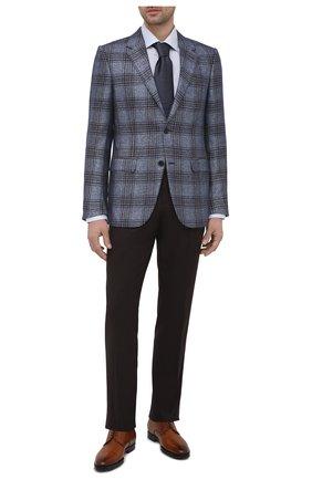 Мужские кожаные дерби KITON коричневого цвета, арт. USSDECH/N00101 | Фото 2 (Материал внутренний: Натуральная кожа; Мужское Кросс-КТ: Броги-обувь; Стили: Классический)