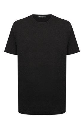 Мужская хлопковая футболка DOLCE & GABBANA темно-серого цвета, арт. 0101/G8FL6T/FU7EQ | Фото 1