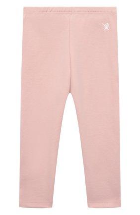 Детские хлопковые брюки SANETTA розового цвета, арт. 10218 | Фото 1