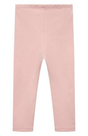 Детские хлопковые брюки SANETTA розового цвета, арт. 10218 | Фото 2