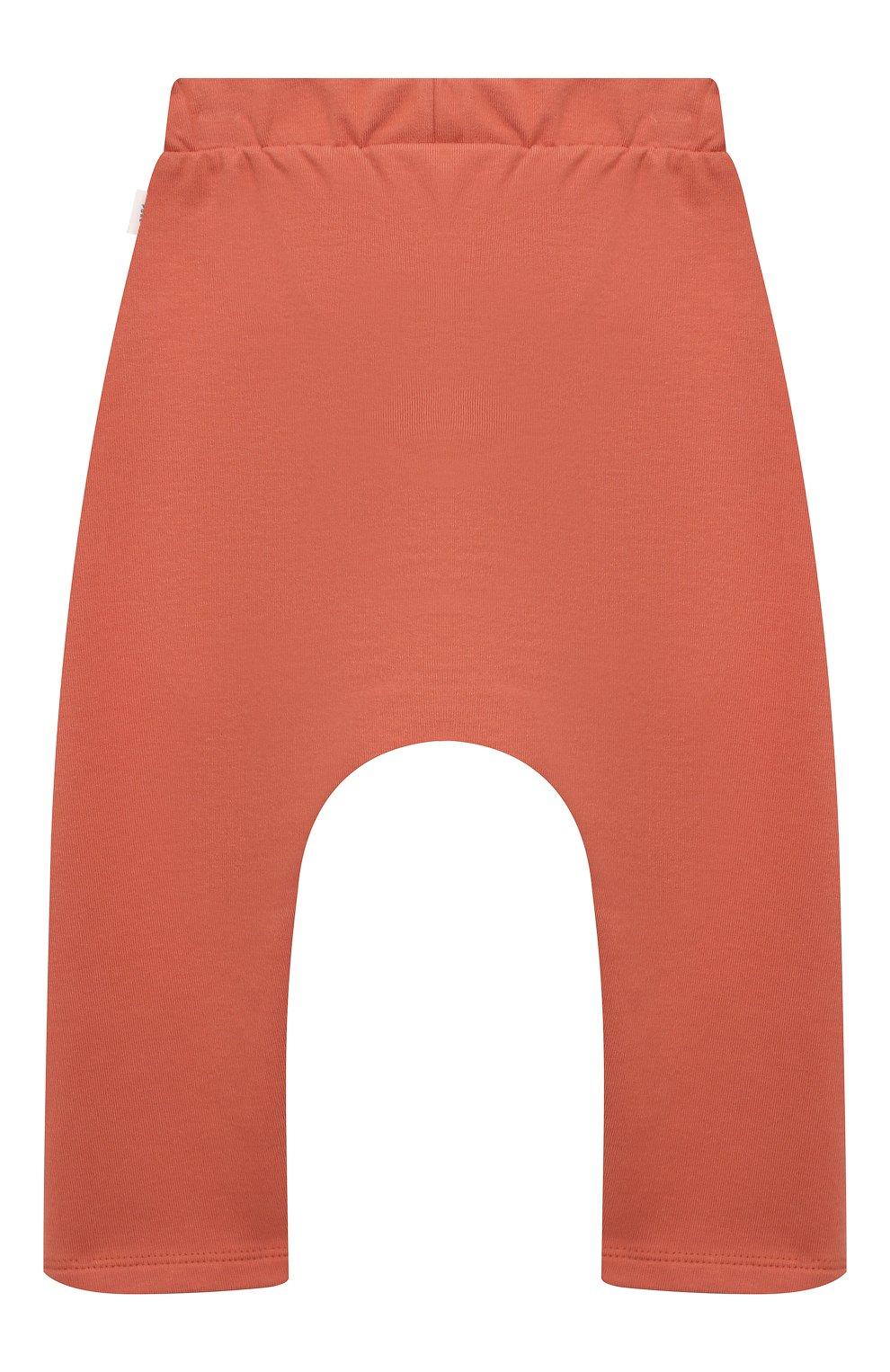 Детские хлопковые брюки SANETTA розового цвета, арт. 10244 | Фото 2