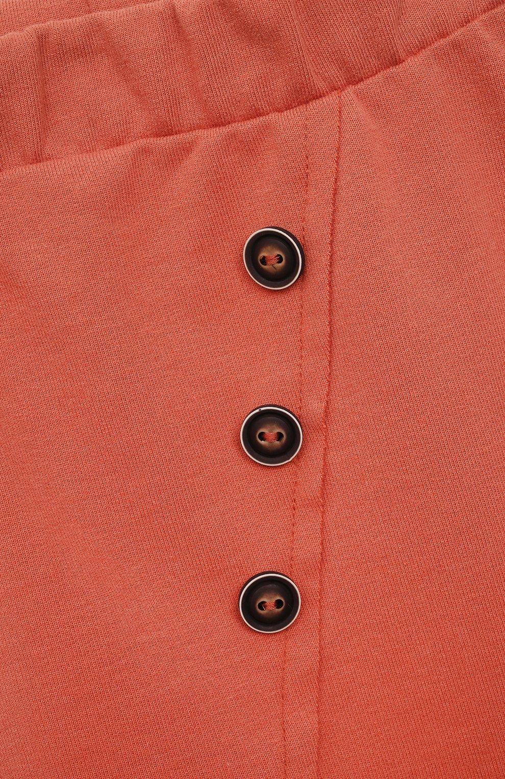 Детские хлопковые брюки SANETTA розового цвета, арт. 10244 | Фото 3
