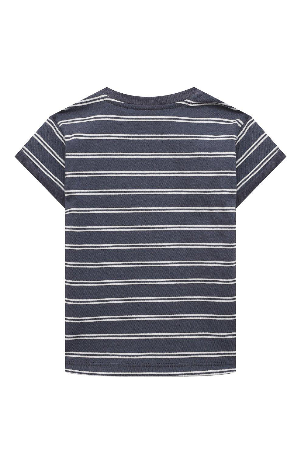 Детский хлопковая футболка SANETTA синего цвета, арт. 10202 | Фото 2