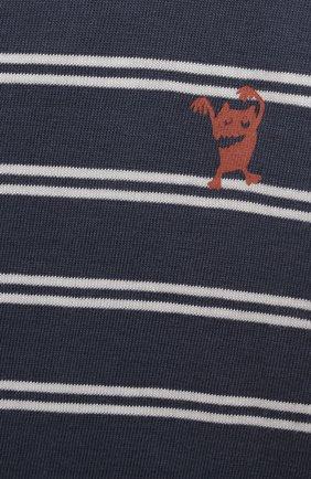 Детский хлопковая футболка SANETTA синего цвета, арт. 10202 | Фото 3