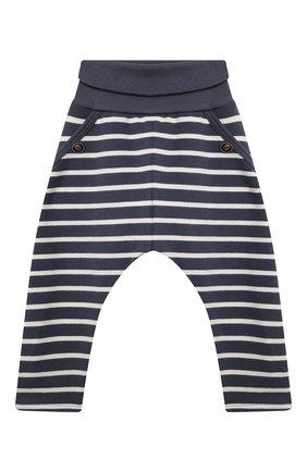 Детские хлопковые брюки SANETTA синего цвета, арт. 10247 | Фото 1