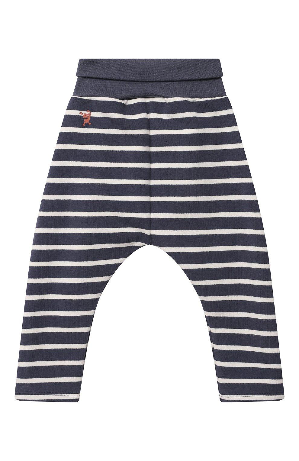 Детские хлопковые брюки SANETTA синего цвета, арт. 10247 | Фото 2