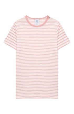 Детская хлопковая пижама SANETTA светло-розового цвета, арт. 221596 | Фото 2
