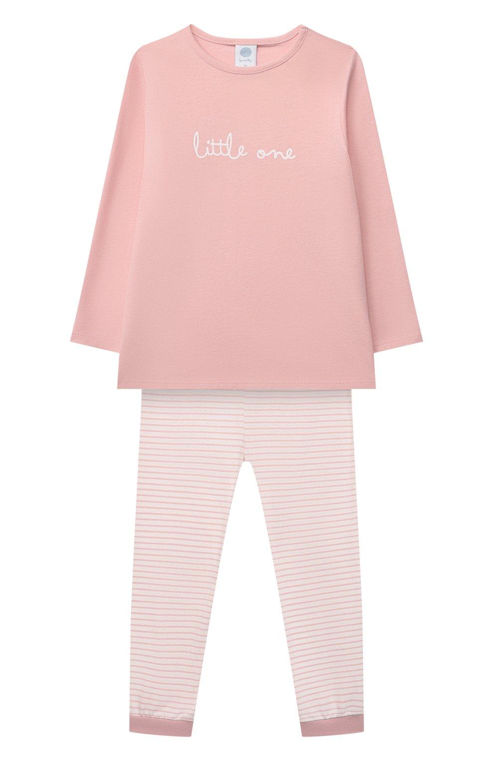 Детская хлопковая пижама SANETTA светло-розового цвета, арт. 221597   Фото 1