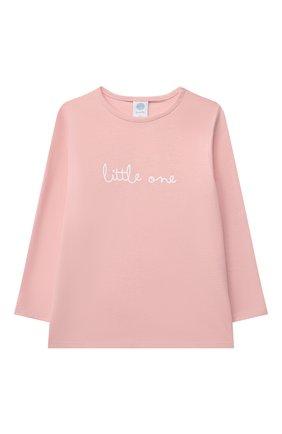 Детская хлопковая пижама SANETTA светло-розового цвета, арт. 221597 | Фото 2