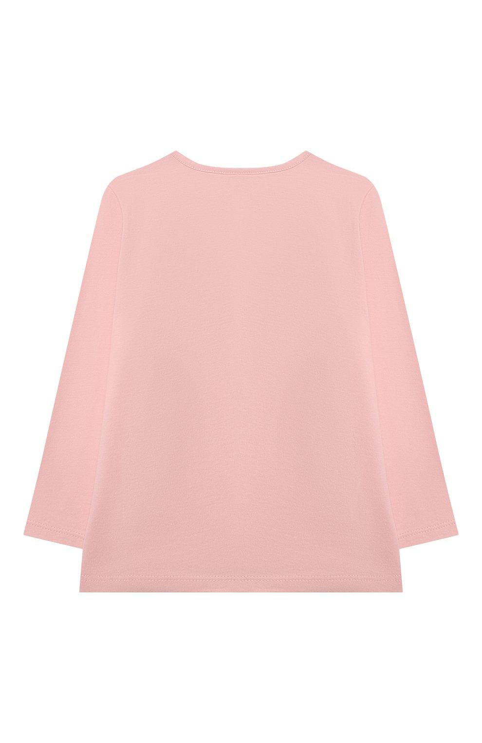 Детская хлопковая пижама SANETTA светло-розового цвета, арт. 221597   Фото 3