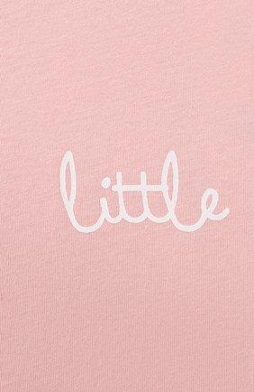 Детская хлопковая пижама SANETTA светло-розового цвета, арт. 221597   Фото 4