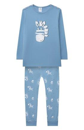 Детский хлопковая пижама SANETTA синего цвета, арт. 221608 | Фото 1