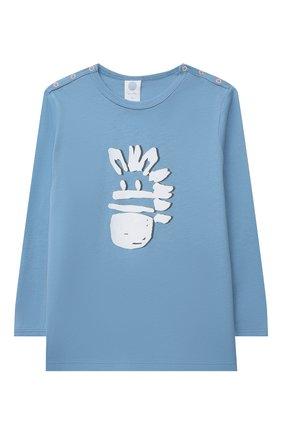 Детский хлопковая пижама SANETTA синего цвета, арт. 221608 | Фото 2