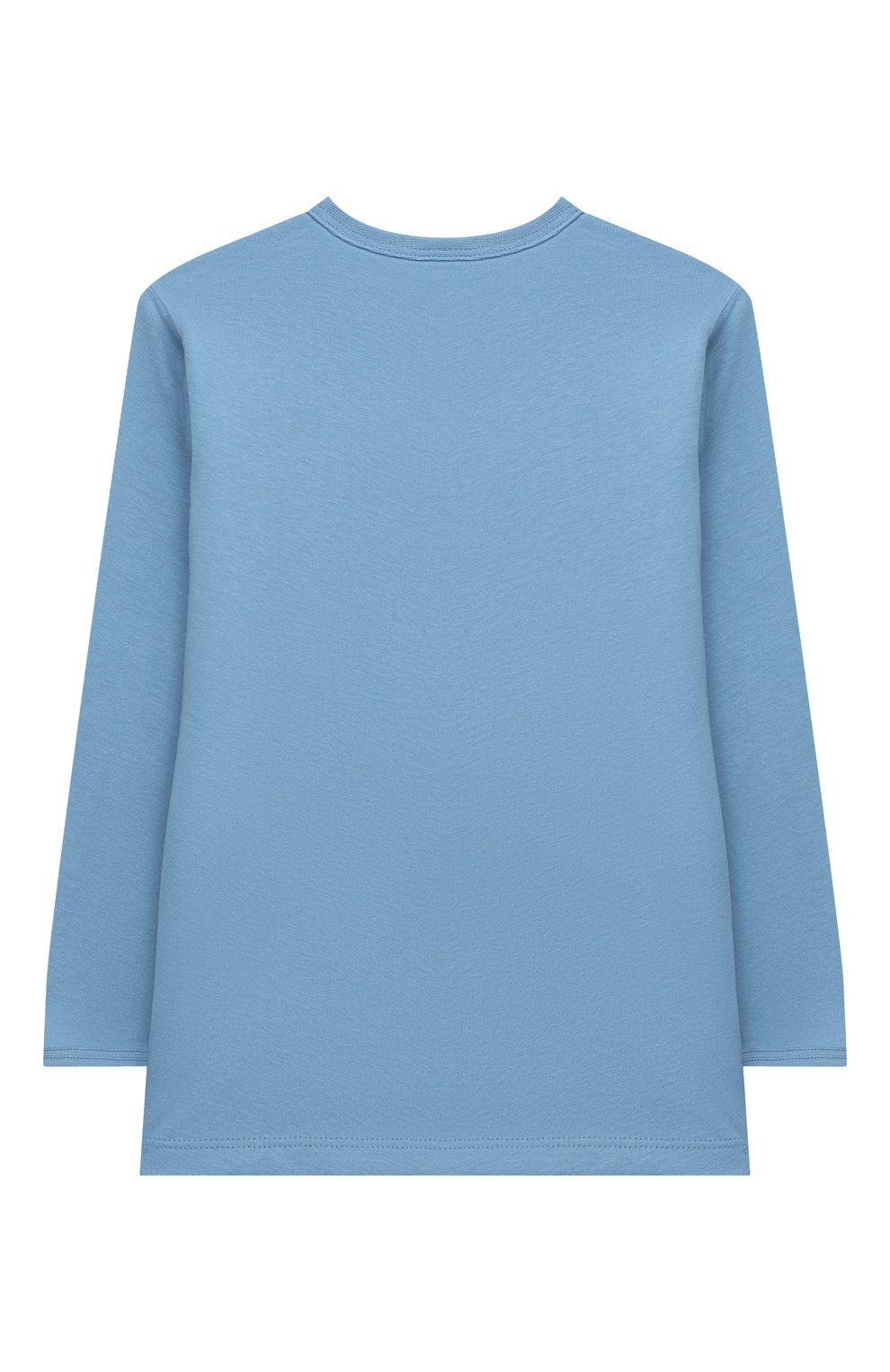 Детский хлопковая пижама SANETTA синего цвета, арт. 221608 | Фото 3