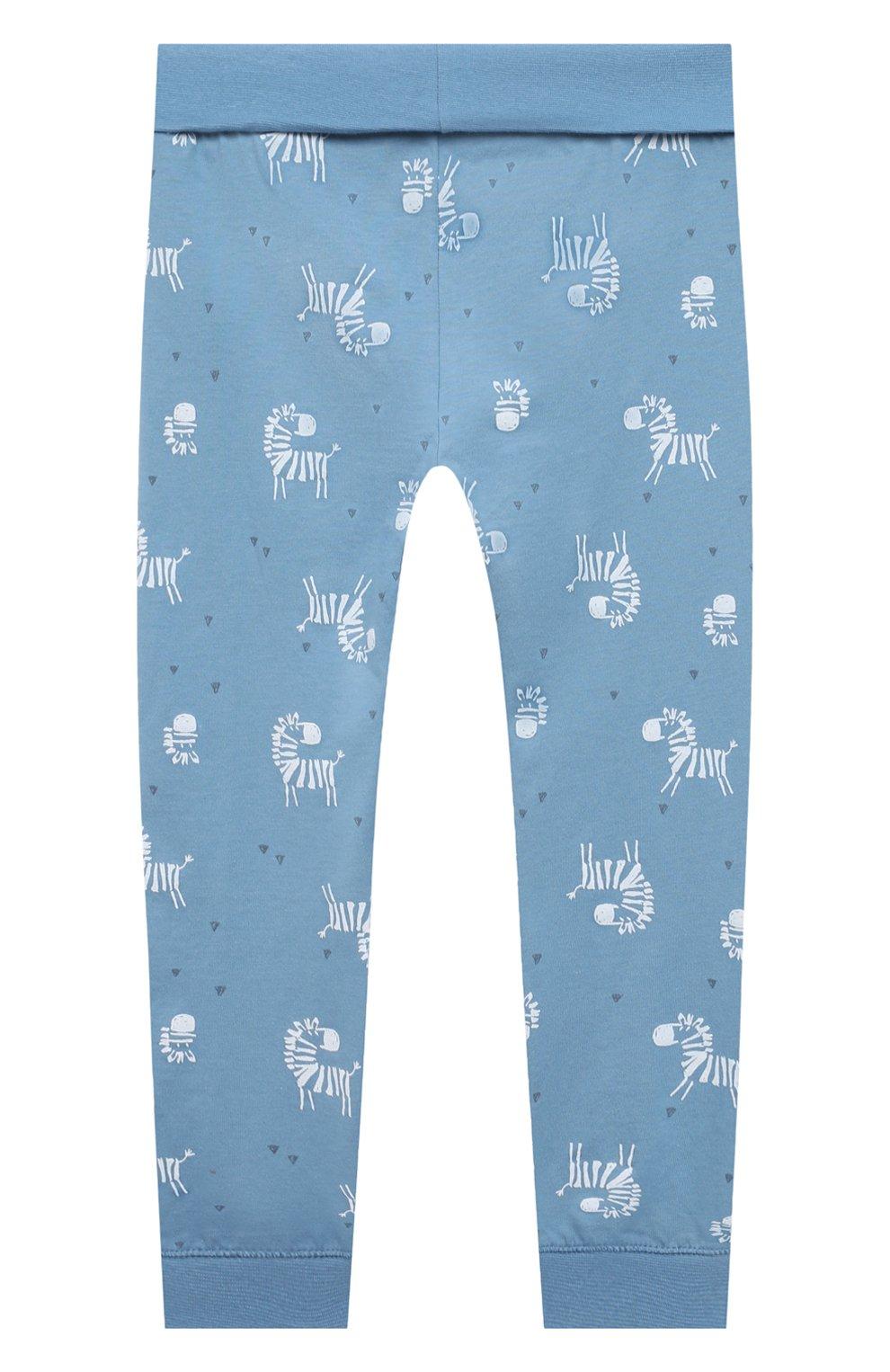 Детский хлопковая пижама SANETTA синего цвета, арт. 221608 | Фото 6