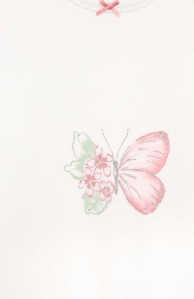 Детский хлопковый комбинезон SANETTA белого цвета, арт. 221611 | Фото 3
