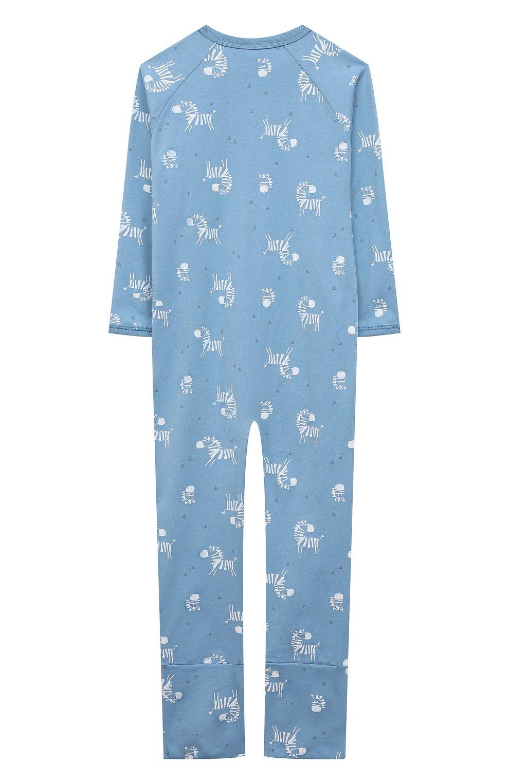 Детский хлопковый комбинезон SANETTA синего цвета, арт. 221609   Фото 2